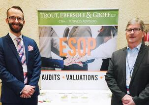 Doug Knapp and Mike Wolfe at the ESOP Conference