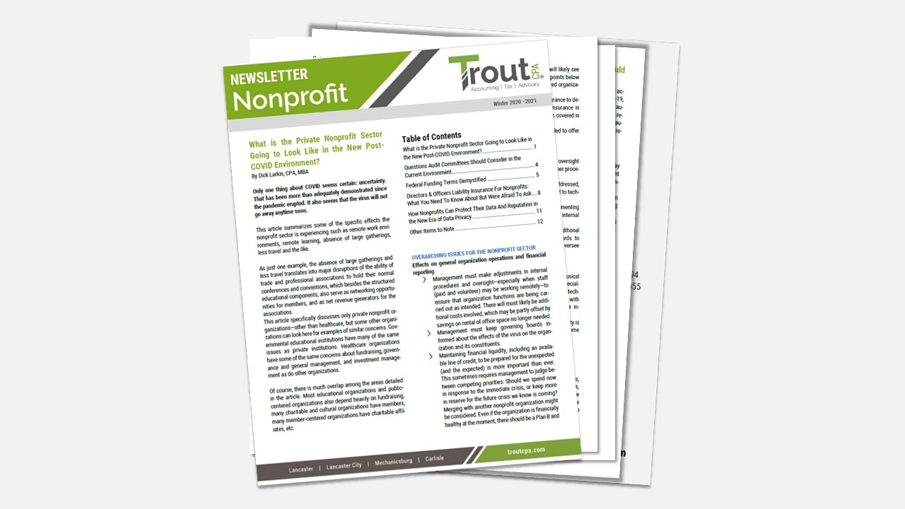 Nonprofit Winter Newsletter