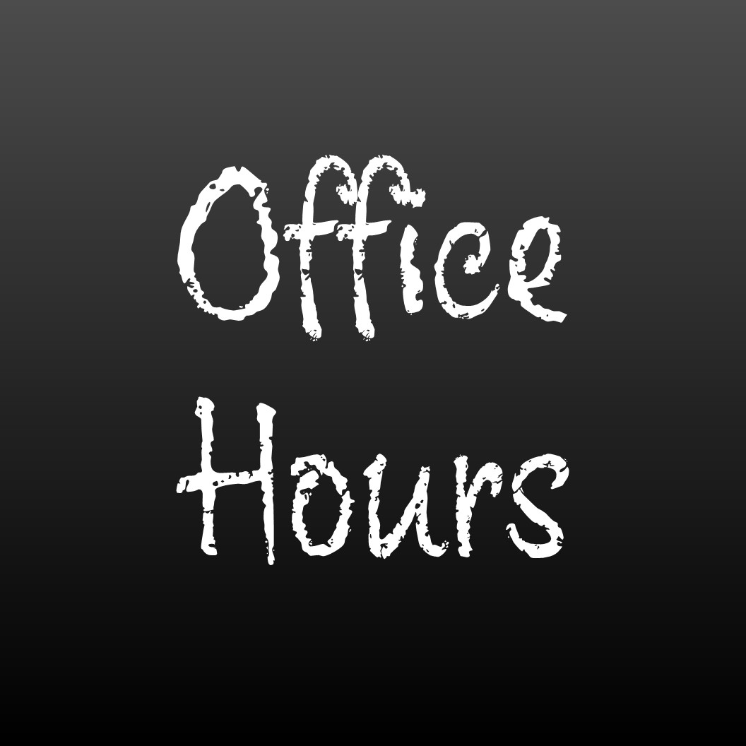 Office Hours on Friday, December 20, 2019