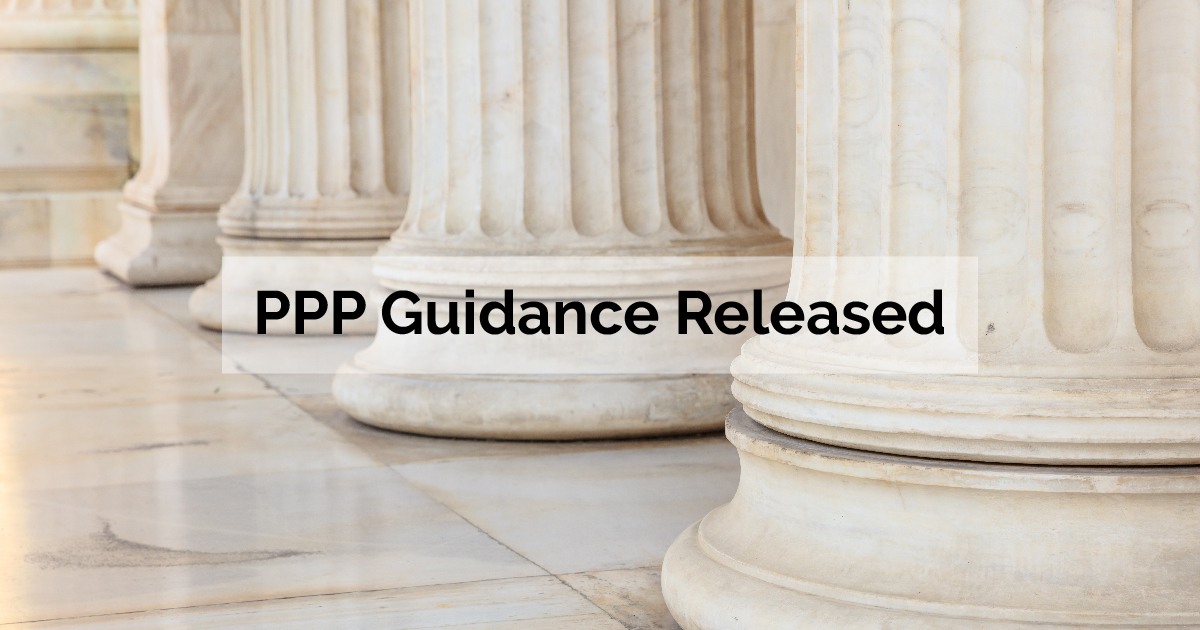 PPP Guidance Released