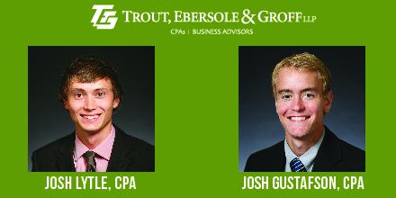 Joshua Gustafson and Joshua Lytle Earn CPA Designation